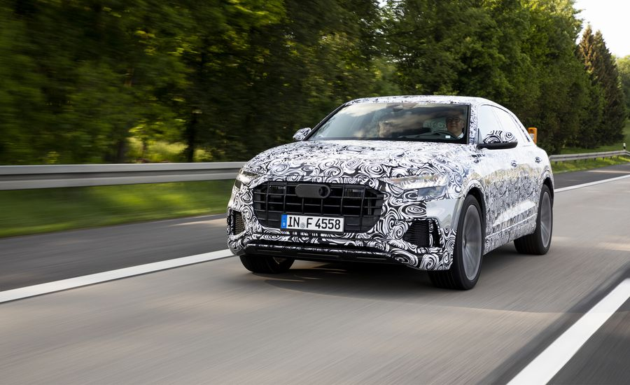 2019 Audi Q8 Going For A Spin In S New Flagship Suv
