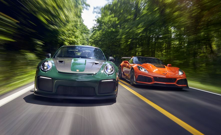 2018 Porsche 911 GT2 RS and 2019 Chevrolet Corvette ZR1 - Slide 1
