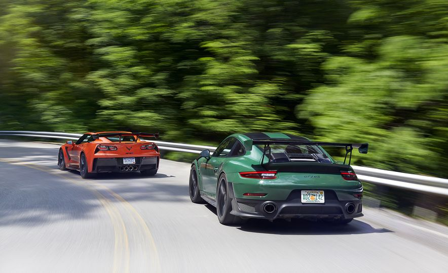2018 Porsche 911 GT2 RS and 2019 Chevrolet Corvette ZR1 - Slide 3