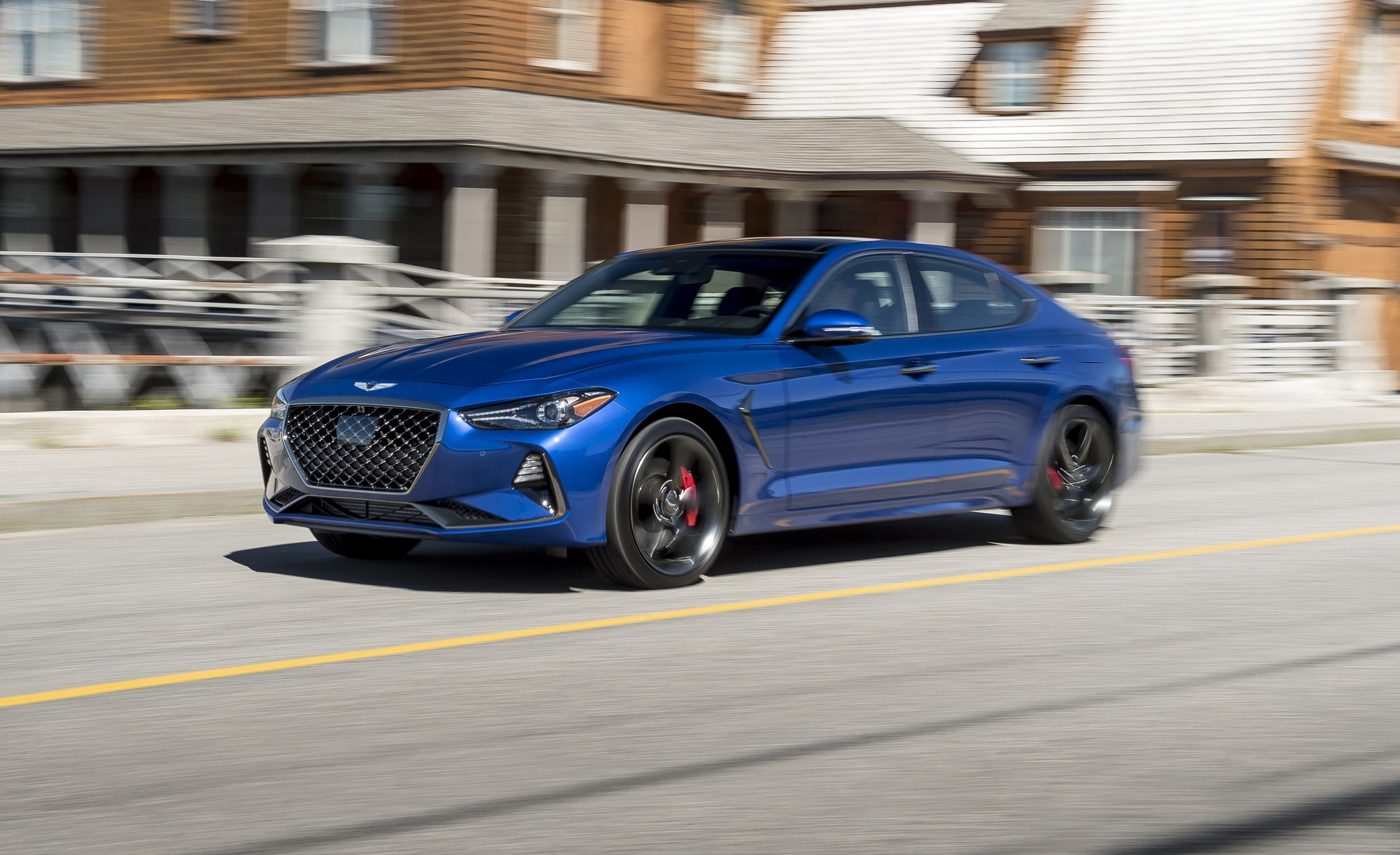 genesis g70 reviews genesis g70 price photos and specs car and driver. Black Bedroom Furniture Sets. Home Design Ideas