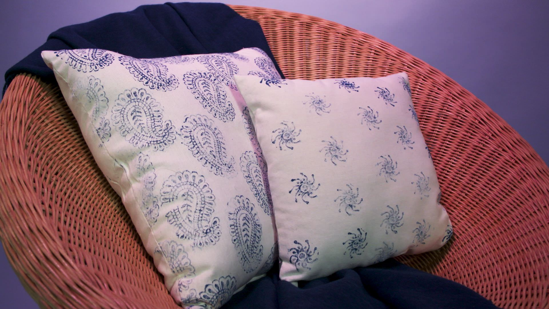 How to Block-Print Your Own Throw Pillows