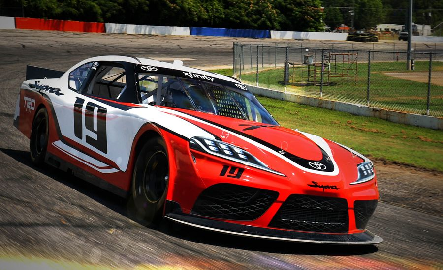 Here's the New Toyota Supra as a NASCAR Racer
