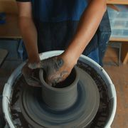 hands on clay