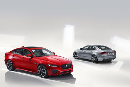The 2020 Jaguar XE Ditches the V-6, Gains Sharper Styling and More Touchscreens