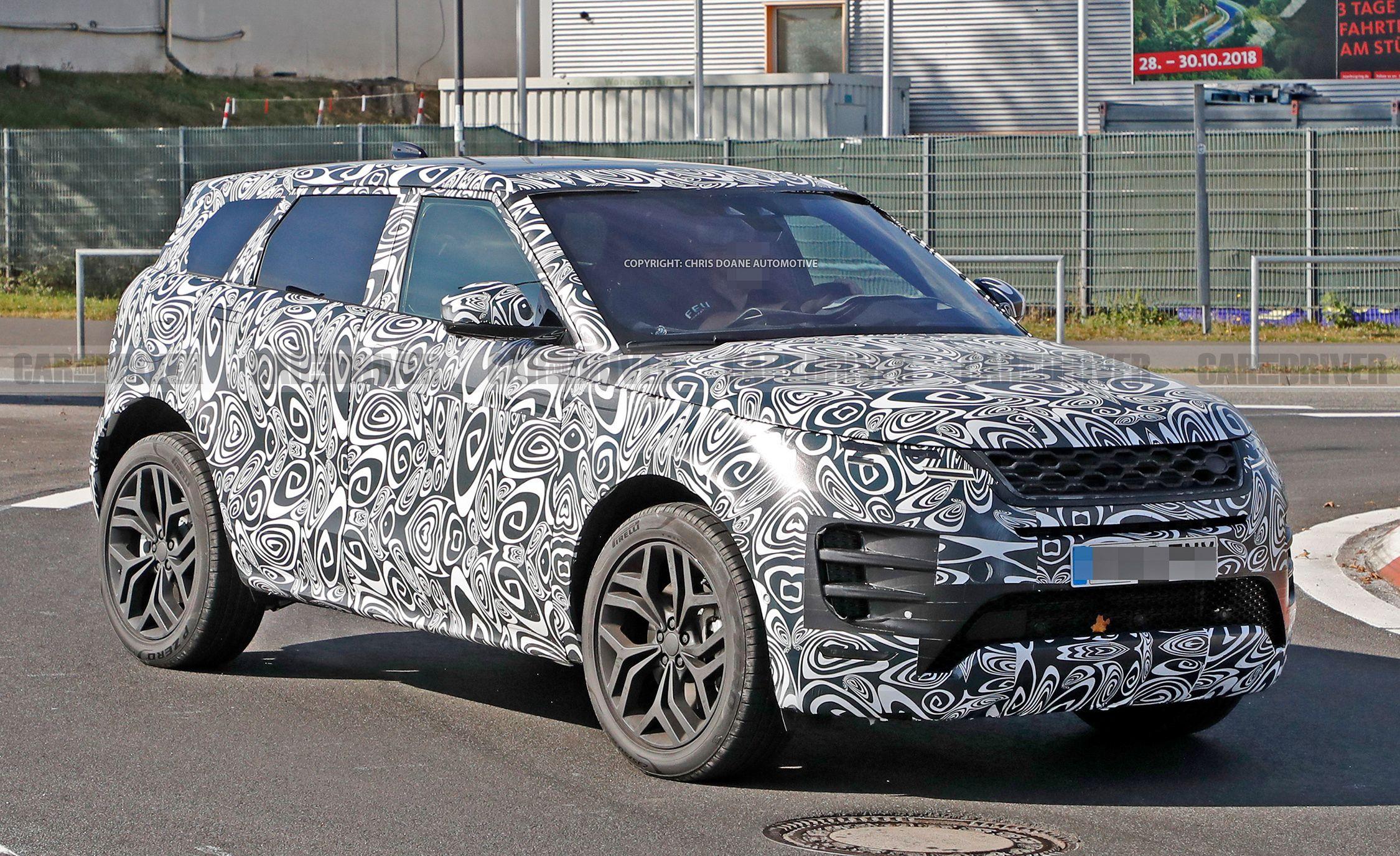 Next-Gen Range Rover Evoque Spied, Looks like a Baby Velar