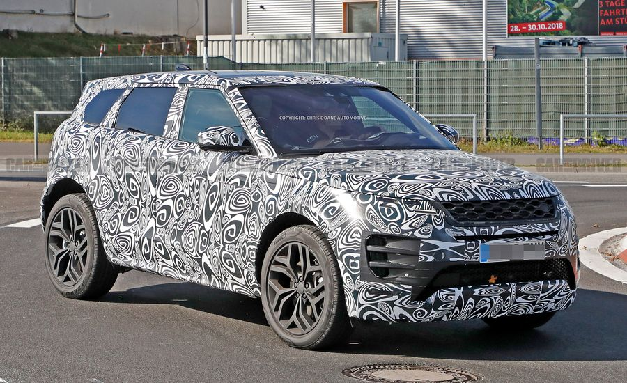 2020 Range Rover Evoque Spied Looking like a Baby Velar