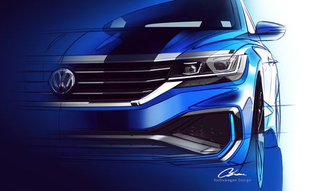 2020 Volkswagen Passat Revealed . . . in Sketches and Tweets