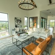 open concept home with natural light
