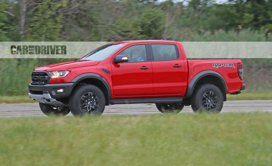 2021 ford ranger raptor spied news car and driver. Black Bedroom Furniture Sets. Home Design Ideas