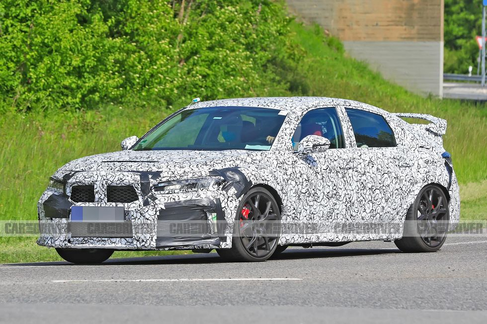 2022 honda civic type r spied front 1590162904