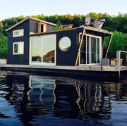 House, Home, Property, Architecture, Waterway, Water, Boathouse, Building, Cottage, Tree,