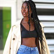 model on street