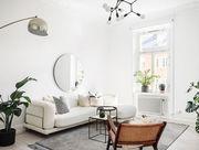 White, Room, Interior design, Living room, Furniture, Property, Houseplant, Floor, Building, Table,