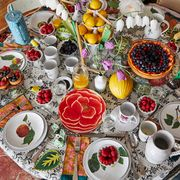 john derian's set table for a dinner party at his apartment
