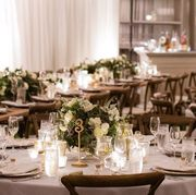 Wedding banquet, Rehearsal dinner, Decoration, Centrepiece, Function hall, Restaurant, Meal, Table, Banquet, Wedding reception,