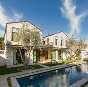 exterior, olive trees, pool