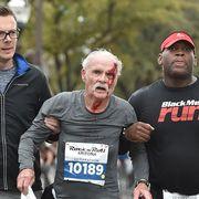 old man falls at arizona marathon