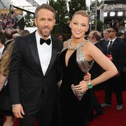 blake lively and ryan reynolds at the 74th annual golden globe awards