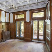 Building, Property, Room, Ceiling, Wood, Interior design, Wood stain, Beam, Daylighting, Floor,