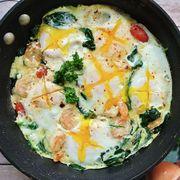 Dish, Food, Cuisine, Fried egg, Ingredient, Meal, Breakfast, Egg, Brunch, Spinach,