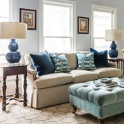 Living room, Furniture, Room, Couch, Interior design, Coffee table, Table, Home, Sofa bed, Slipcover,