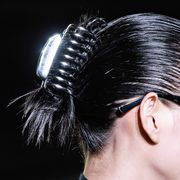Hair, Eyewear, Ear, Hairstyle, Fashion, Glasses, Beauty, Chin, Nose, Organ,