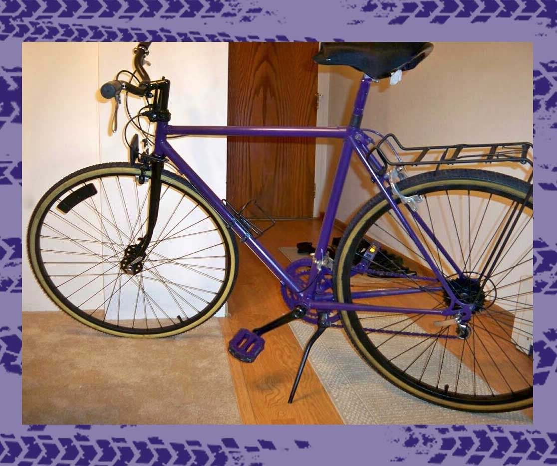Houchin's first bike, a purple Schwinn, was her gateway into the sport.