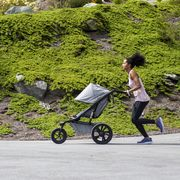 running with a jogging stroller