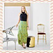 Clothing, Yellow, Green, Day dress, Dress, Pattern, Pattern, Pencil skirt, Design, Waist,