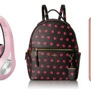 Pink, Headphones, Product, Backpack, Bag, Audio equipment, Gadget, Design, Magenta, Technology,