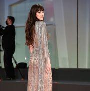 dakota johnson sheer dress venice international film festival 2021