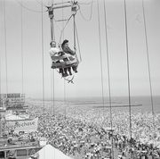"""""""original caption a couple on the parachute ride at coney island, new york"""""""