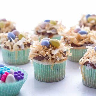 angel food cake birds nest cupcake recipe for easter