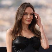 angelina jolie at the eternals photo call