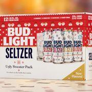 anheuser busch bud light seltzer ugly sweater pack 2021