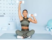 Shoulder, Arm, Physical fitness, Joint, Leg, Exercise equipment, Strength training, Standing, Muscle, Thigh,