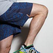 Blue, Leg, Human leg, Elbow, Wrist, Joint, Knee, Thigh, Calf, Electric blue,