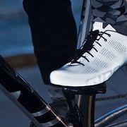 Cycling while wearing Giro Empire ACC reflective bike shoes