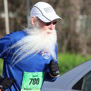 Runner with beard.