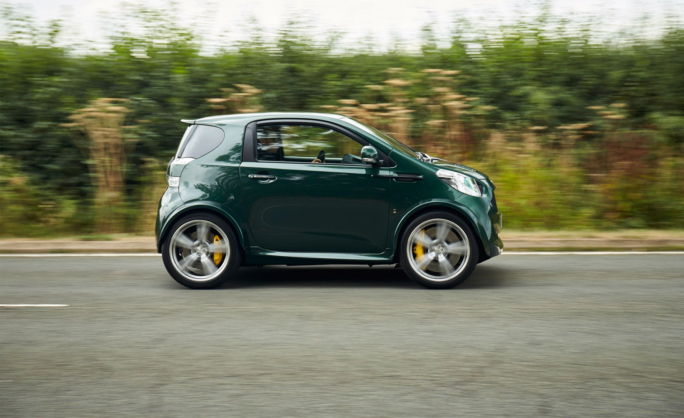the aston martin v8 cygnet is a 430 hp microcar. Black Bedroom Furniture Sets. Home Design Ideas