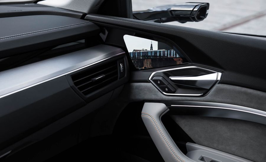 """Audi Reveals e-tron EV's Interior: Check Out the Side-View """"Mirror"""" OLED Screens"""