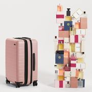 away travel polycarbonate flex luggage petal