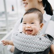 mom with baby carrier