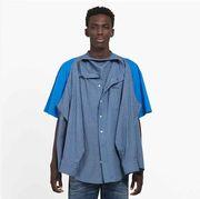 Clothing, Sleeve, Blue, Denim, Outerwear, Pattern, Shirt, Pattern, Design, Dress shirt,