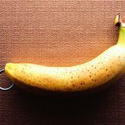Banana pierced with earring