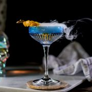 Drink, Alcoholic beverage, Distilled beverage, Classic cocktail, Liqueur, Alcohol, Cocktail, Stemware, Still life photography, Glass,