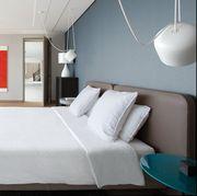 Bedroom, Furniture, Room, Bed, Property, Interior design, Mattress, Bed sheet, Bed frame, Building,