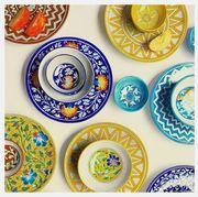 Turquoise, Dinnerware set, Plate, Dishware, Aqua, Tableware, Ceramic, Visual arts, Platter, Saucer,