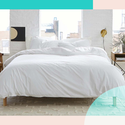 white brooklinen sheets on bed
