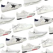 golden goose, givenchy, hermes, offwhite white sneakers